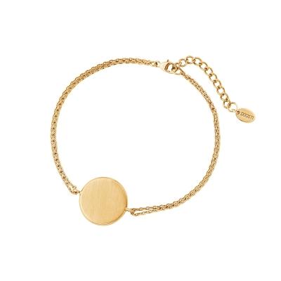 cadfb88a4227 DOOSTI Zartes Armband 925 - Silber Gelbgold vergoldet - inkl. Gratis Gravur
